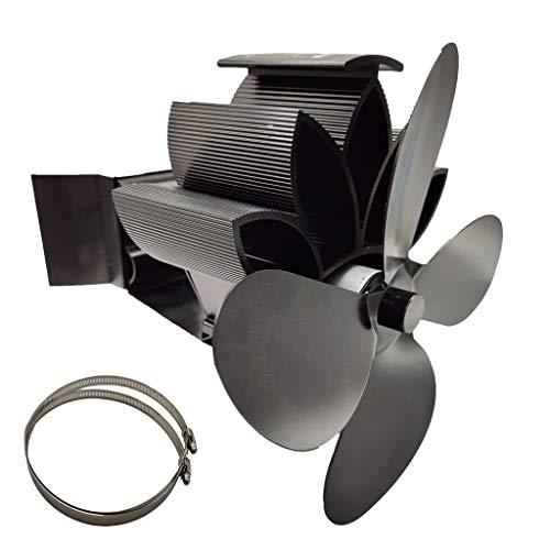 chenpaif 4 Cuchillas Estufa de Chimenea de Calor Chimenea suspendida Ventilador Aluminio Silencioso Ecológico para Madera