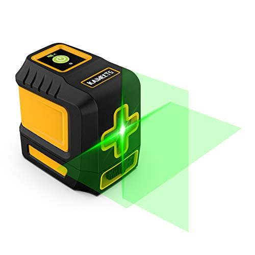 Laser Level, 98ft Green Self-Leveling Laser Line with Magnetic Base, with Adjustable Lightness Line Cross Laser Level for Picture Hanging - KAIWEETS T03