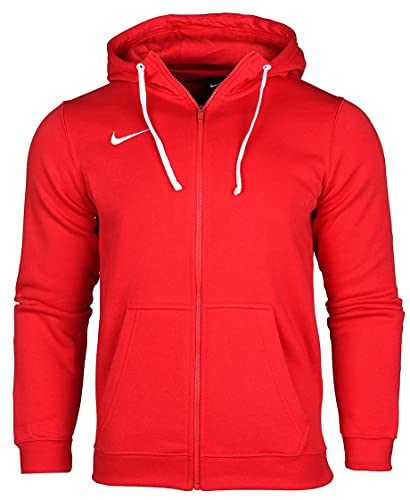NIKE M NK FLC PARK20 FZ Hoodie Sweatshirt, University Red/White/White, Mens