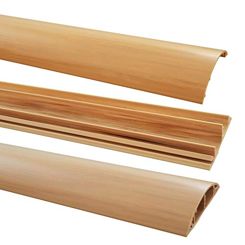 1m Fußboden Kabelkanal PVC oder ALU selbstklebend in verschiedenen Breiten, Größe Kabelkanal:70mm, Farbe Kabelkanal:Hellbraun Meliert