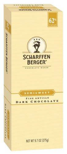 SCHARFEEN BERGER Artisan Dark Chocolate Bars, Semisweet, 9.7 Ounce (Pack of 2)
