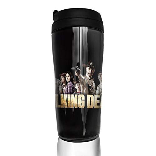 Walking Dead Kaffeebecher Wasserbecher Reisebecher Wiederverwendbar Auslaufsicher mit Deckel für 350 ml (Becherboden verdickt rutschfest)
