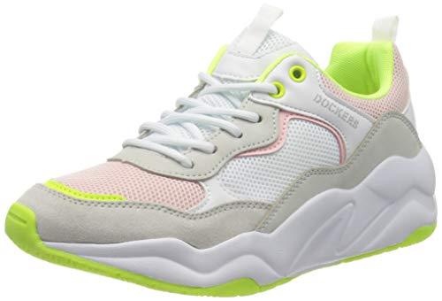 Dockers by Gerli Women's Low-Top Sneakers, White Weiss Multi 505, 8 UK