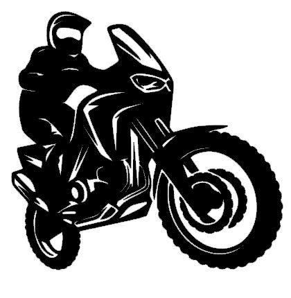 generisch Motorrad Aufkleber Enduro Aufkleber Auto Aufkleber in 10cm, 15cm, 20cm, 25cm (128/4/3) (Silbergrau Glanz, 10cm)