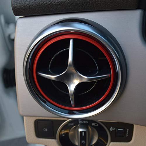 BTOEFE Klimaanlage Luftauslass Dekoration Auto AC Auspuffloch Dekoration Ring Aufkleber geeignet, für Mercedes-Benz SLK SLC R172 SLK200 SLC250d SLK55 AMG SLC43