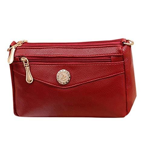 LHXS Dames Tas Grote Capaciteit Lederen Schoudertas Messenger Bag Wild Tassen Trend Vrouwen