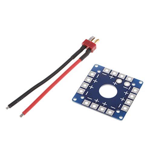 Sharplace Scheda di Distribuzione Dell'alimentazione ESC per Multicotteri con Cablaggio a Spina XT60 / T - t Plug