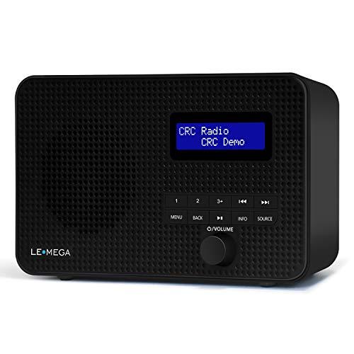 LEMEGA DR1 Portable DAB/DAB+/FM Digital Radio,Dual Alarms...