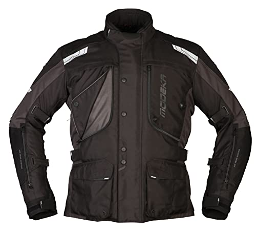 Modeka Motorradjacke Aeris schwarz dunkelgrau, XL
