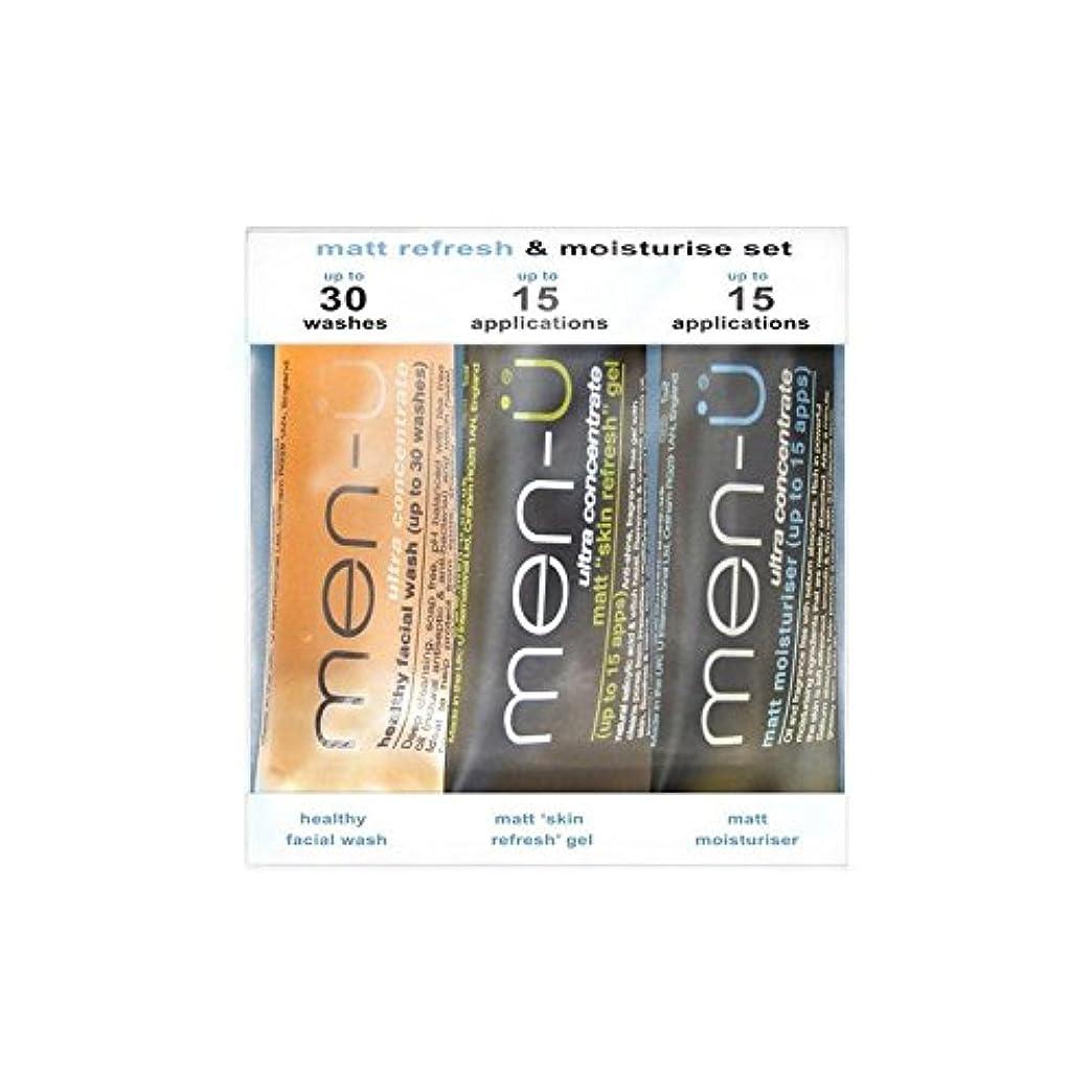 知覚的旅客地質学男性-のマットリフレッシュ&保湿セット(3製品) x2 - Men-U Matt Refresh & Moisturise Set (3 Products) (Pack of 2) [並行輸入品]