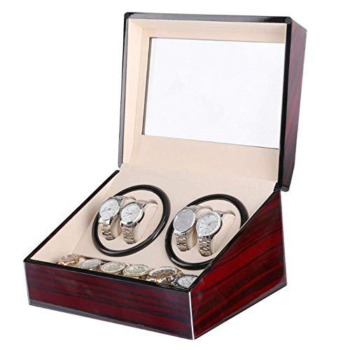 LJW Automatic Watch Winder Box Automatic Watch Winder Box 4 Modes, Legno Shell, 2/4 + 6   Codice Commodity: LJW-14 (Color : L)