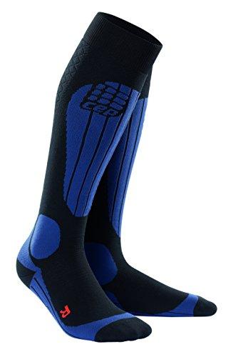 CEP pro+ ski thermo socks for men V black-deepblue