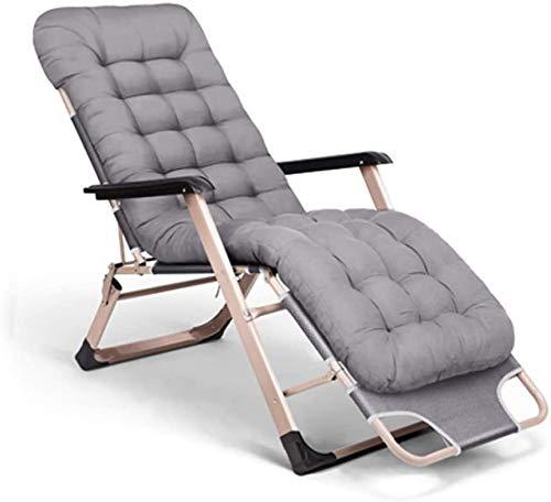 OESFLas sillas sillón reclinable Plegable al Aire Libre relaja la Silla con reposapiés Ajustable Amortiguador de la Tela de algodón