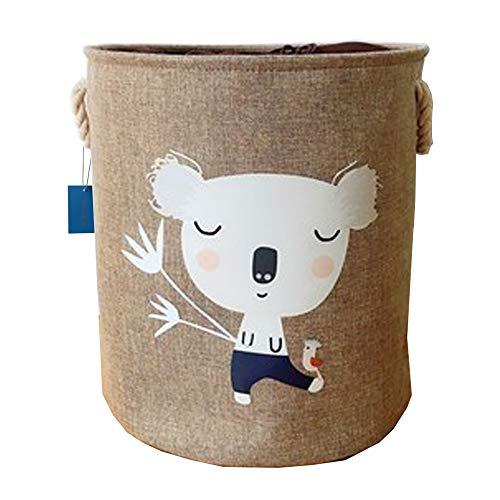 VictoryMeet Faltbare Kinder Aufbewahrungskörbe Aufbewahrungsbox Kinder Wäschekorb Aufbewahrungskorb Aufbewahrungskiste spielzeugkisten für kinderzimmer Organizer (Koalabär)