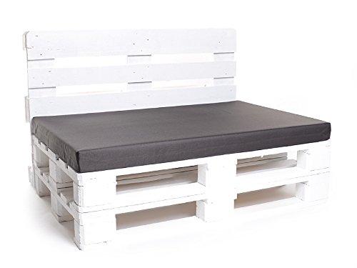 Palettenkissen, Matratzenkissen, Palettenauflage, NYLON braun, 120x80 cm Schaumstofffüllung (Rückenlehne extra bestellbar)