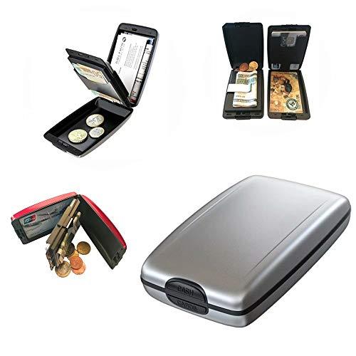 rheinwing RFID Sichere EIN- und Auszahlungen Geldbörse Silber