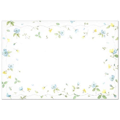 ダイカット ミニカード 青小花柄 CGC1479 (A-0) カード5枚・封筒5枚 クリエイトジー ブルーフラワー 大人 オシャレ シンプル 郵送不可サイズ
