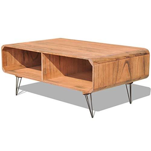 vidaXL Bois de Paulownia Table Basse Salon Marron Support pour TV Télévision