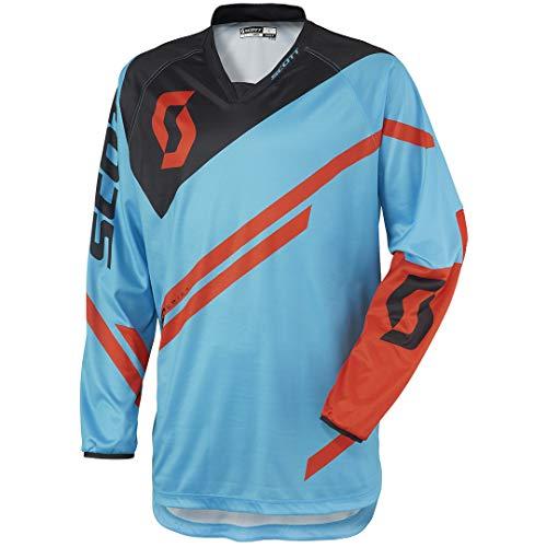 Scott 350 Track MX Motocross Jersey/DH Fahrrad Trikot blau/schwarz 2016: Größe: L (50/52)