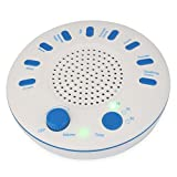 White Noise Sound Machine - Portable Sleep Therapy for Home, Office, Baby - 7 Soothing Sound ,Lullaby and 3 Timer Settings by Ezy Sleep (White)