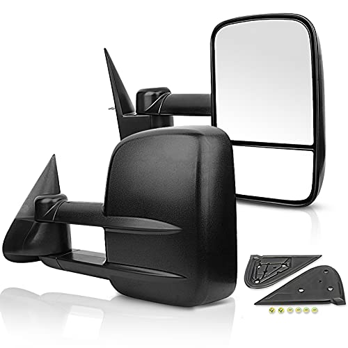 ECCPP Towing Mirrors,Driver and Passenger Exterior Manual for Chevy Tow Mirrors Pair Replacement fit for Chevy Silverado GMC Sierra Pickup Truck 1999 2000 2001 2002 2003 2004 2005 2006