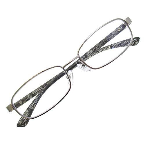 ブルーライトカット 老眼鏡 スクエア 非球面 シニアグラス 細身 おしゃれ リーディング 読書 グラス +4.00