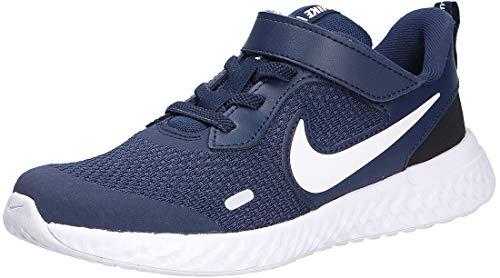 Nike Revolution 5 (PSV), Zapatillas para Correr Unisex Niños, Midnight Navy/White/Black, 32 EU