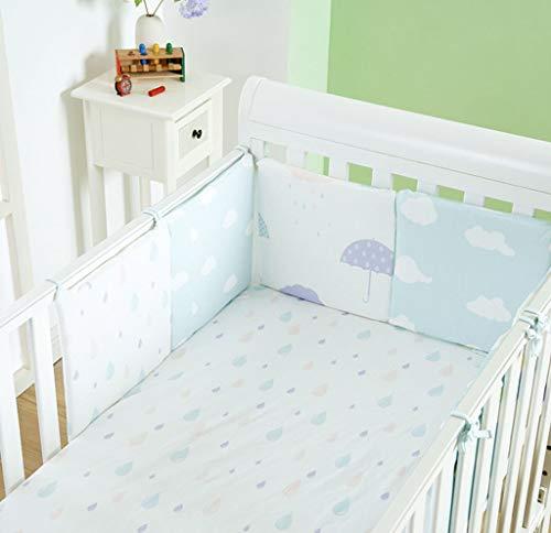 LY-LD Baby Bed Bumper Sets von 6-Piece, Soft Breathable Cotton Kissen Krippenschutz für 0-36 Monate Säugling,A