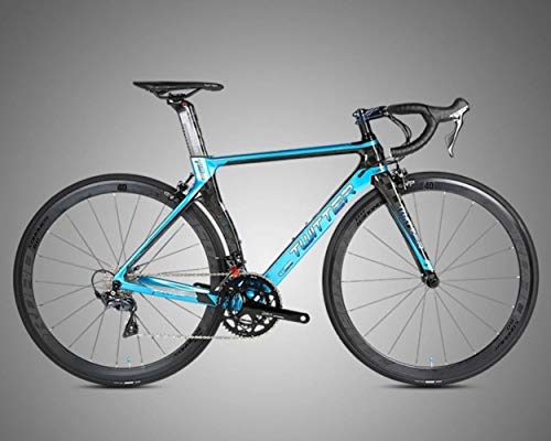 GUIO22-Gang-Carbon-Rennrad Rennrad, blau, 48 cm (165 cm - 170 cm)