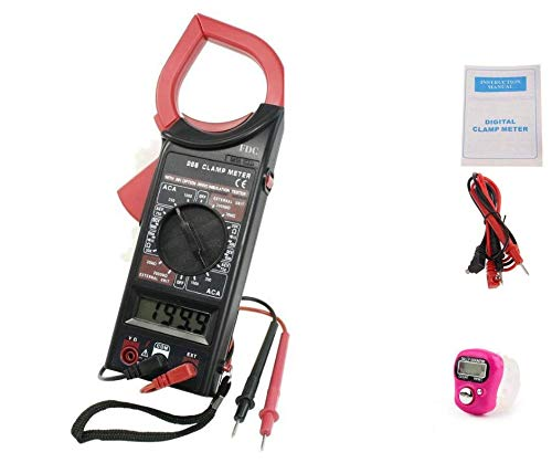 Freshdcart DT-266 Ac Dc Digital Clamp Multimeter Auto Ranging Amp Current Voltage Measurement Device, Ammeter Tong Tester with Accuracy (FDC-27A)