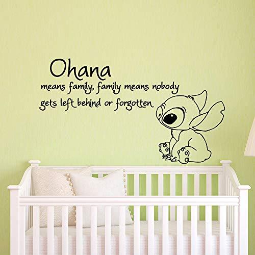 Wandtattoo Kinderzimmer Ohana bedeutet, dass Familie bedeutet, dass niemand zurückbleibt oder Lilo And Stitch Baby Nursery vergisst