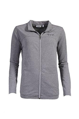 hajo Betz Damen Freizeitjacke Sweatjacke Klima Komfort Farbe: grau-Melange Größen: 38-48 Größe 44