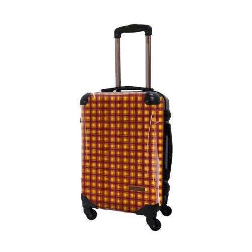 [キャラート] アート スーツケース ベーシック カラーチェックモダン フレーム4輪 機内持込 S 機内持込可 保証付 31L 57cm 3.2kg CRA01H-023U イエロー1 イエロー1