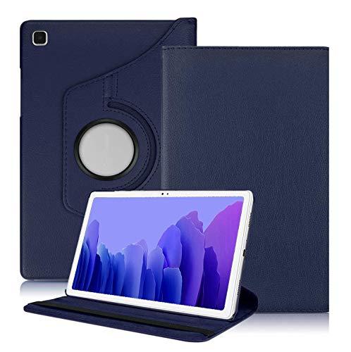 Kemocy Cover per Samsung Galaxy Tab A7 10.4 2020,360 Rotazione PU Pelle Flip Cover con Funzione di Supporto Custodia per Samsung Galaxy Tab A7 10.4 (T500 T505 T507) 2020 Tablet,Blu Scuro