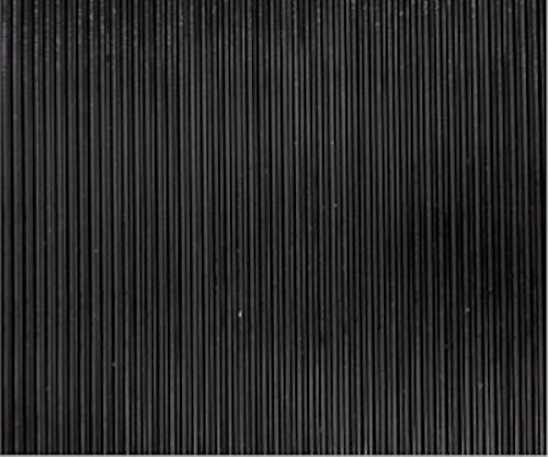 Revestimiento de Caucho Antideslizante | Suelo de Goma PVC Negro 3mm Diseño Cordoncillo (140_x_250 CM)