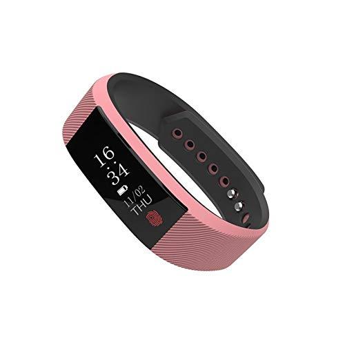 XUEXIU Smart Sports Watches Hombres Mujeres W808S Pulsera Inteligente Podómetro Monitor De Sueño Monitor De Ritmo Cardíaco Monitor Sedente Recordatorio Agua Potable (Color : Pink)