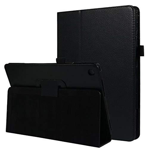 """HereMore Coque pour ASUS ZenPad 10, Folio Case Cover Etui Housse de Protection avec Support Fonction pour ASUS ZenPad Z300C/ Z300M/ Z301M/ Z301ML/ Z301MFL / Z300CNL / Z300CG / Z300CL 10.1"""", Noir"""