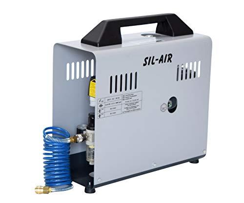Leiselauf Kompressor SIL-AIR 50D | inkl. Druckluftschlauch, Werther, ölgeschmiert