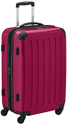 HAUPTSTADTKOFFER - Alex - Hartschalen-Koffer Koffer Trolley Rollkoffer Reisekoffer Erweiterbar, 4 Rollen, TSA, 65 cm, 74 Liter, Magenta