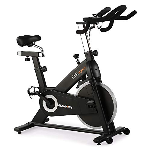 ECHANFIT Exercise Bike Indoor Cycling with Magnetic Resistance and 300 lb Max Weight for Home Fitness, Nero