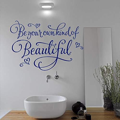 JXND Haz Tus propias Pegatinas de Pared Bonitas y Bonitas calcomanías de Vinilo calcomanías Impermeables decoración de baño 91x65 cm