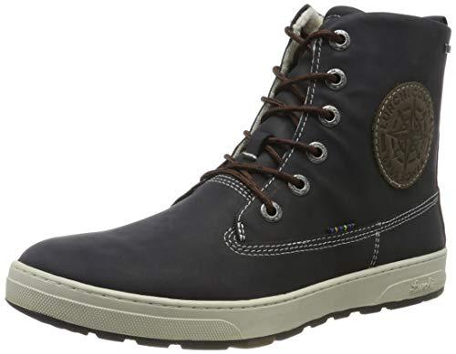 Lurchi Herren Doug-TEX Combat Boots, Blau (Atlantic Fossil 42), 39 EU