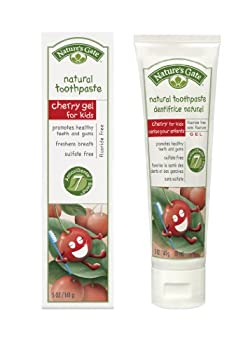 Nature s Gate Natural Toothpaste without Fluoride Cherry Gel 5 oz  141 g   Pack of 4