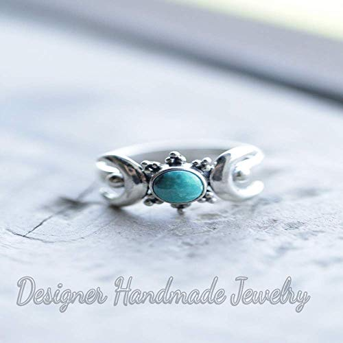 Genuine Garnet Ring Moon Ring Silver Ring Handmade Ring 925 Sterling Silver Garnet Moon Ring Moon ring