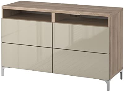Amazon.com: Ikea TV bench with doors and push-open drawers ...