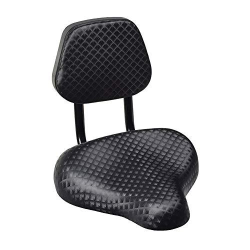 ZCQBCY Asiento de sillín de Bicicleta de Cuero sintético de Gran Comodidad para Ciclismo con Accesorios de Soporte de Respaldo Piezas de Repuesto