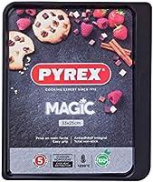 Pyrex Magic Fuentes para Horno, Acero Inoxidable, 33 x 25 cm, Transparente