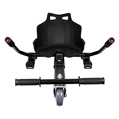 """uublik Outdoor Hoverboard Kart Seat Attachment Adjustable Two Wheel Self Balancing Scooter Frame for 6.5"""" 8"""" 10"""" Electric Kart Accessory"""