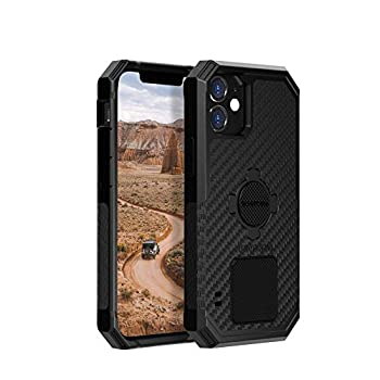 Rokform - iPhone 12 Pro Max Case Rugged Series Magnetic Protective Apple Gear iPhone Cover with RokLock Twist Lock Dual Magnet Drop Tested Armor  Black