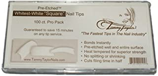 Tammy Taylor Nail Tips - Whitest-White Square - 100pk